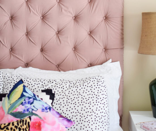 DIY Tufted Headboard Oversized Final Results