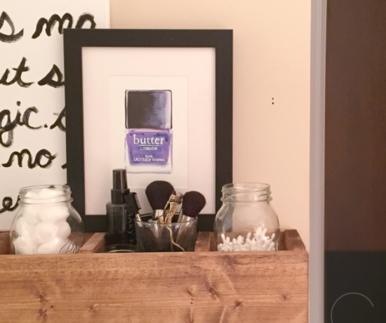 Final Results for Bathroom Storage Cubby