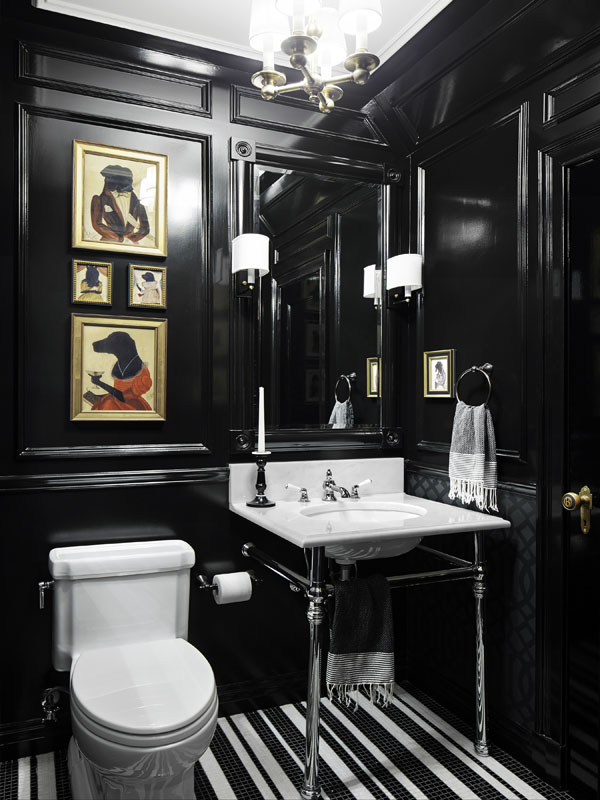 Breaking Design Rules Dark Walls In Small Rooms Chic Misfits