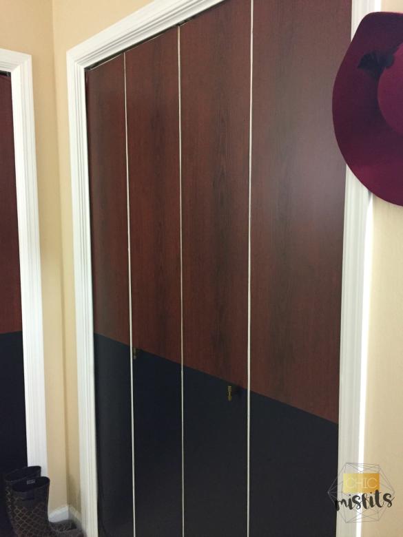 Midcentury Modern Closet Door Makeover
