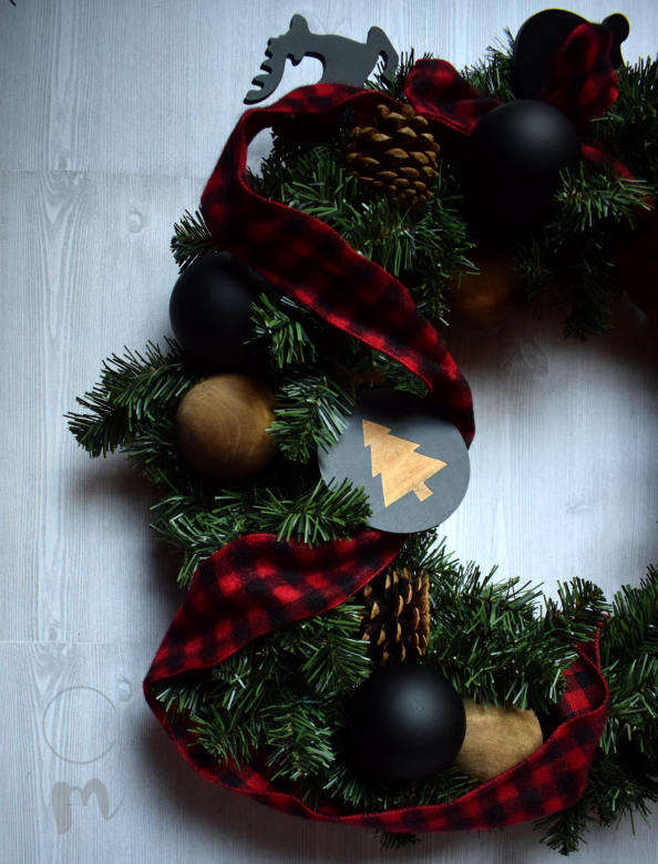 Buffalo Check Christmas Wreath.Diy Buffalo Check Christmas Wreath Results Chic Misfits