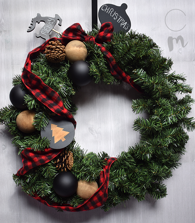 Buffalo Check Christmas Wreath.Buffalo Check Diy Christmas Wreath Chic Misfits