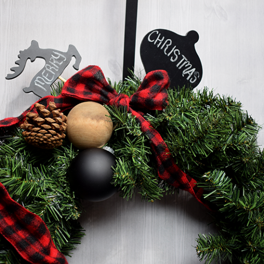 Make A Buffalo Check Christmas Wreath Results
