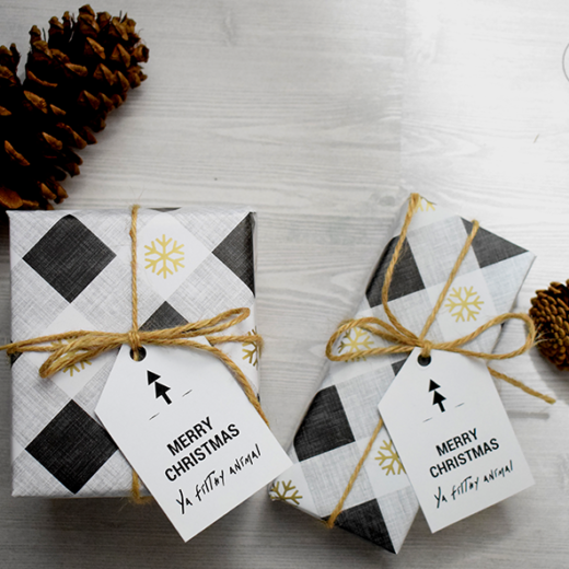 Gift Tag Printable on Present