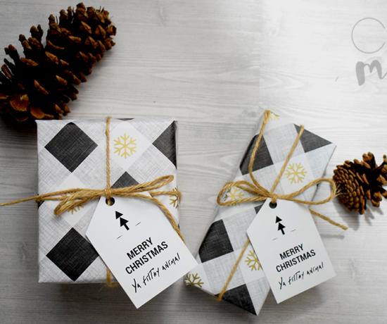 Gift Tag Printable on Present