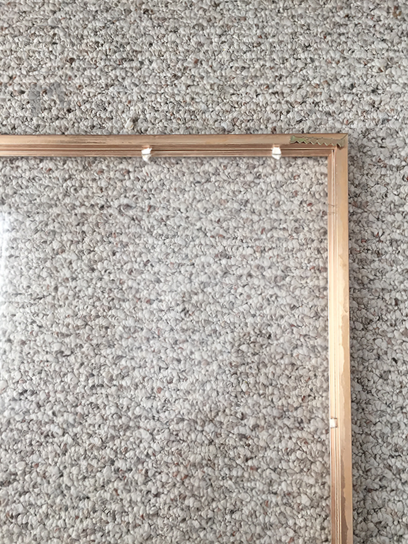 $8 DIY Gold Framed Cork Board - Chic Misfits