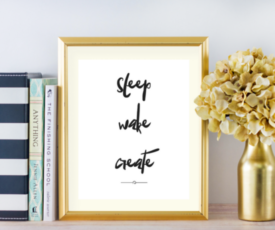 Free Motivational Quote Printable Framed
