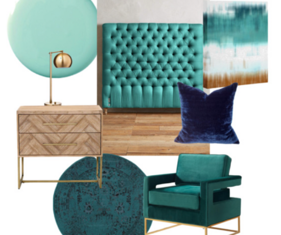 Monochromatic Turquoise Color Combo Mood Board
