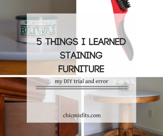Staining furniture main feature