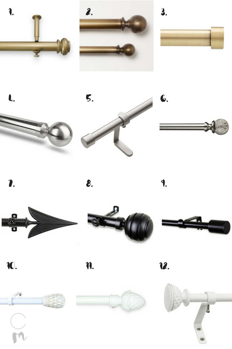 12 Top Budget Friendly Curtain Rods Chic Misfits