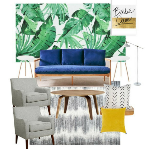 Summer Mid Century Chic Design Plan