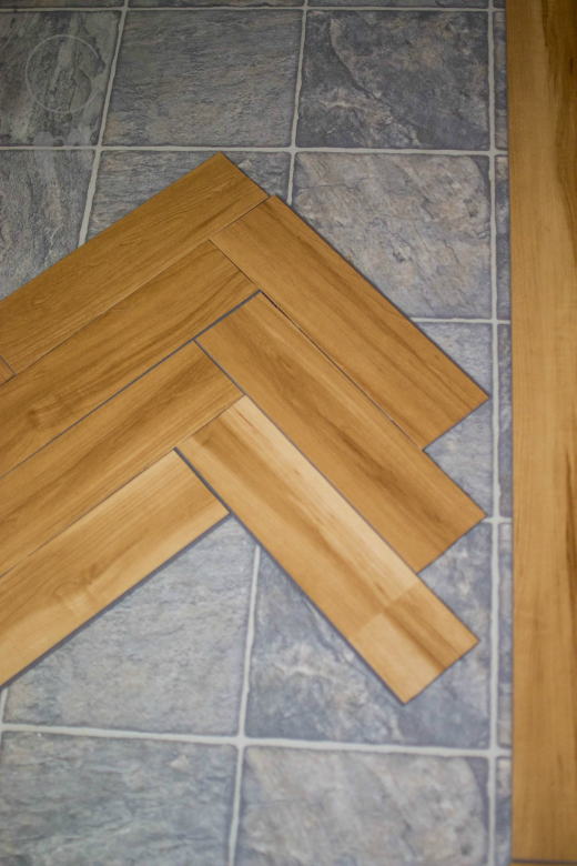 Stacked herringbone wood pattern