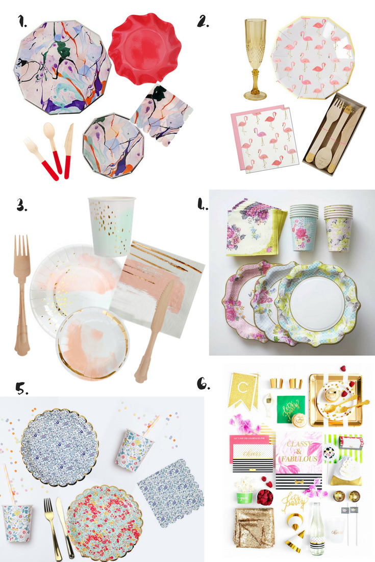 Temporary dinner party Tableware