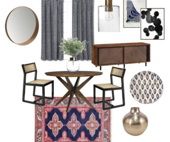 Eclectic Boho Dining Room Collage