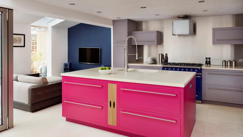 Hot Pink Kitchen Island