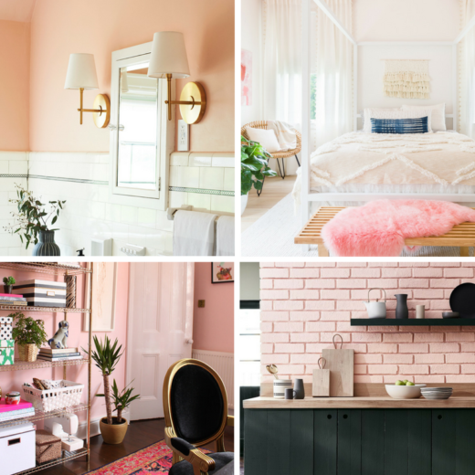 Pink Rooms Collage