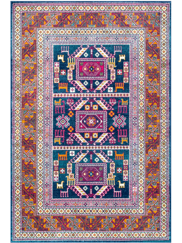 bohemian vintage rugs home x multi distressed monaco product safavieh colored rug garden