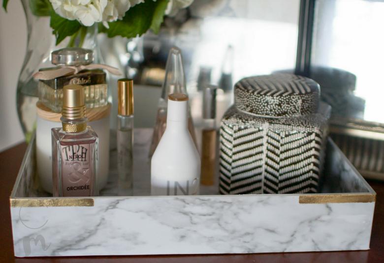 DIY Marble perfume tray