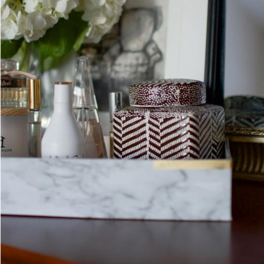 How to DIY a Gold and Marble Perfume Tray