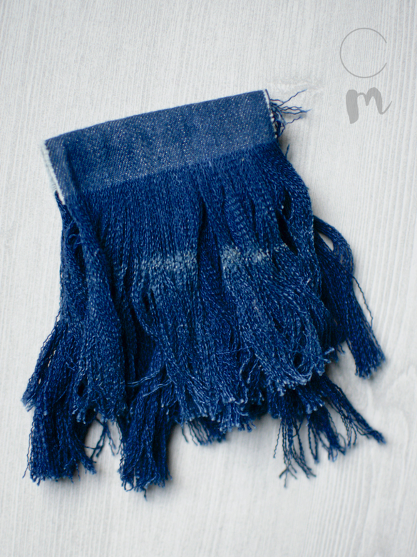 DIY Furniture Tassel Using Denim