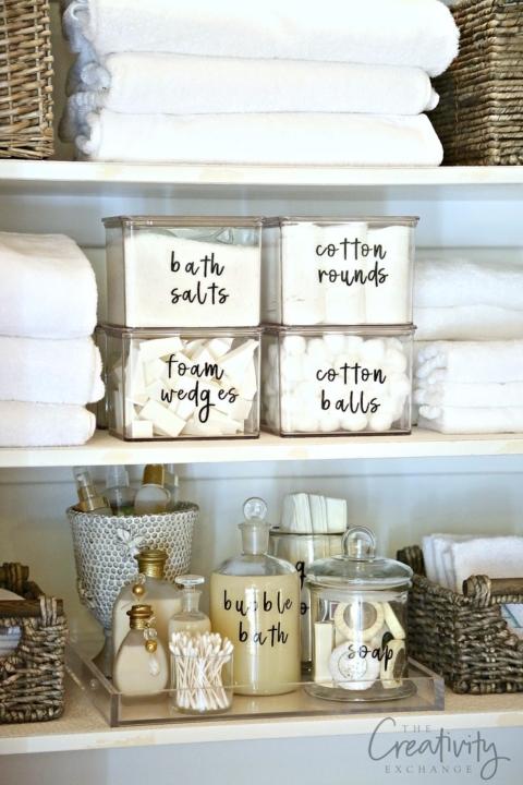 How to Organize a Bathroom Shelf