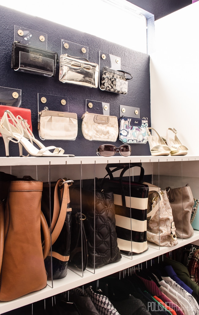 How to Organize Purses in Closet