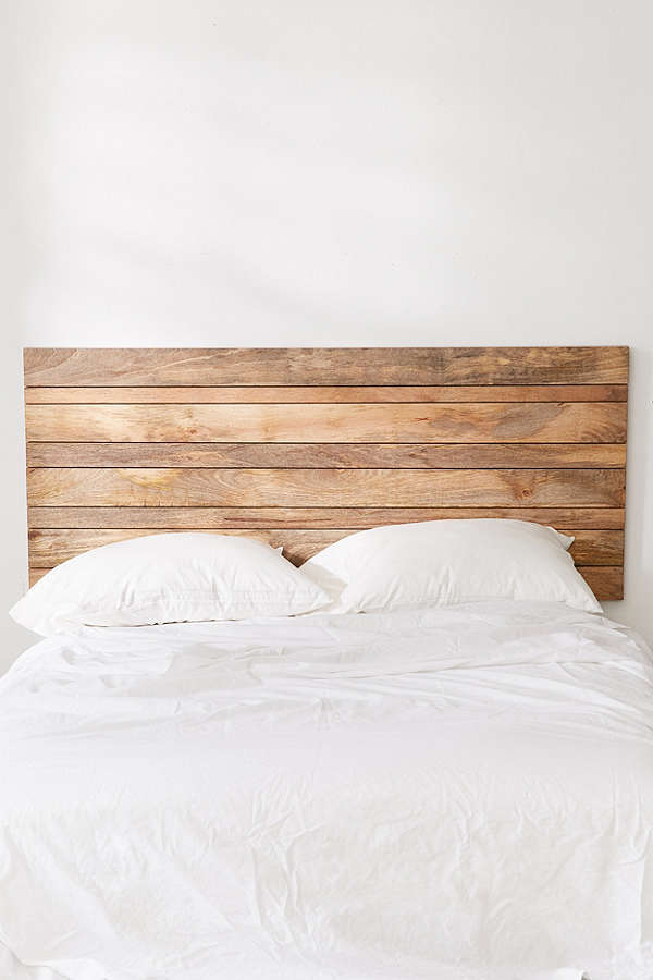 Moody Bedroom Wooden Headboard
