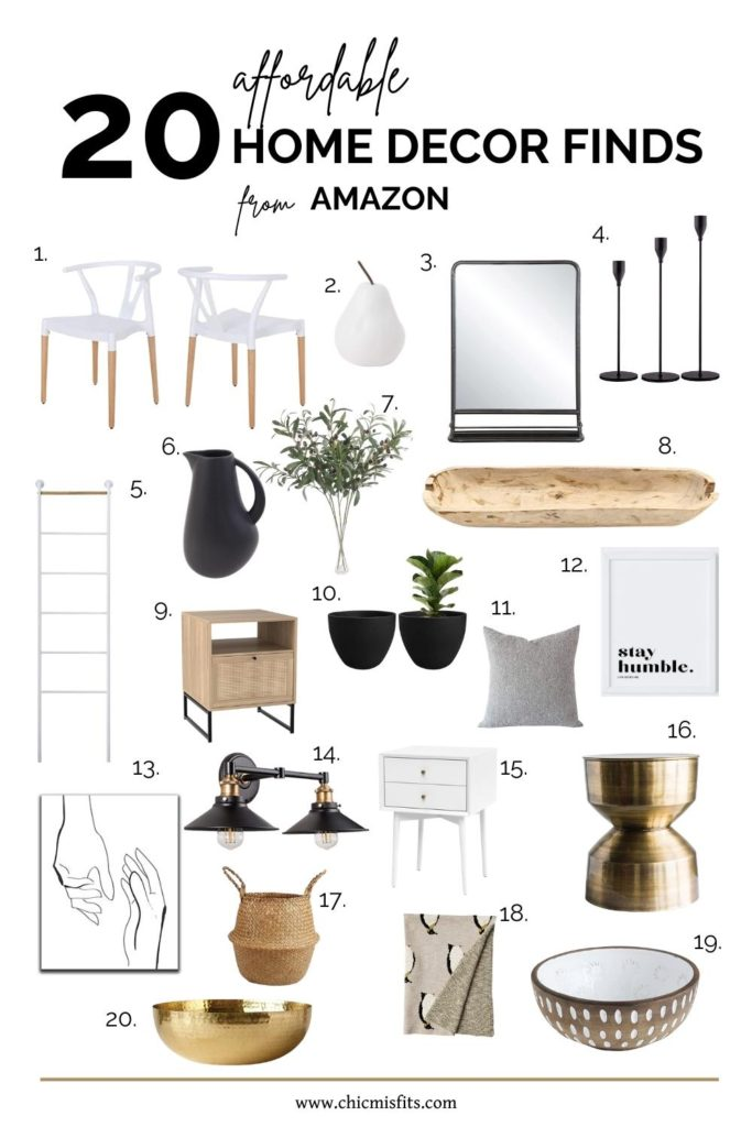 Affordable Amazon Home Decor Finds Modern Classic Style Chic Misfits